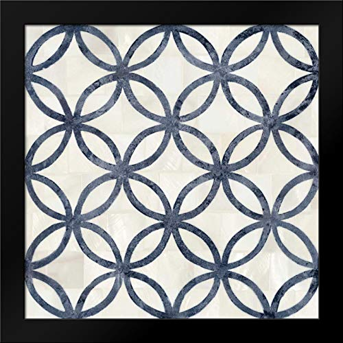 Blue Moroccan Tile 4 Framed Art Print by Smith, Hope - Hope Framed Tile