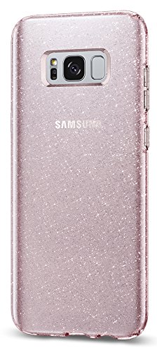 Spigen Liquid Crystal Glitter Galaxy S8 Plus Case with Slim Protection and Premium Clarity for Galaxy S8 Plus (2017) - Rose Quartz