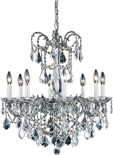 (Elegant Lighting Chandelier Athena Traditional Antique Kitchen Foyer 8-Light Bedroom Bath)