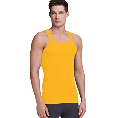 5924a8959ad32 imams deals Orange G Unit Square Cut Ribbed Tank Top Undershirt Underwear  Wife Beater Mens Cotton (