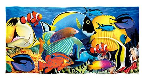 Dawhud Direct Tropical Fish Cotton Beach Towel