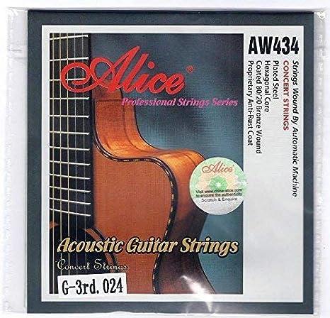 Alice 5X Individual Cuerdas Guitarra Acústica Cuerdas G 3er Cuerda ...