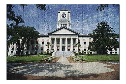 Tallahassee, Florida - Capital Building Facade - Photography A-92097 (20x30 Premium 1000 Piece Jigsaw Puzzle, Made in USA!)