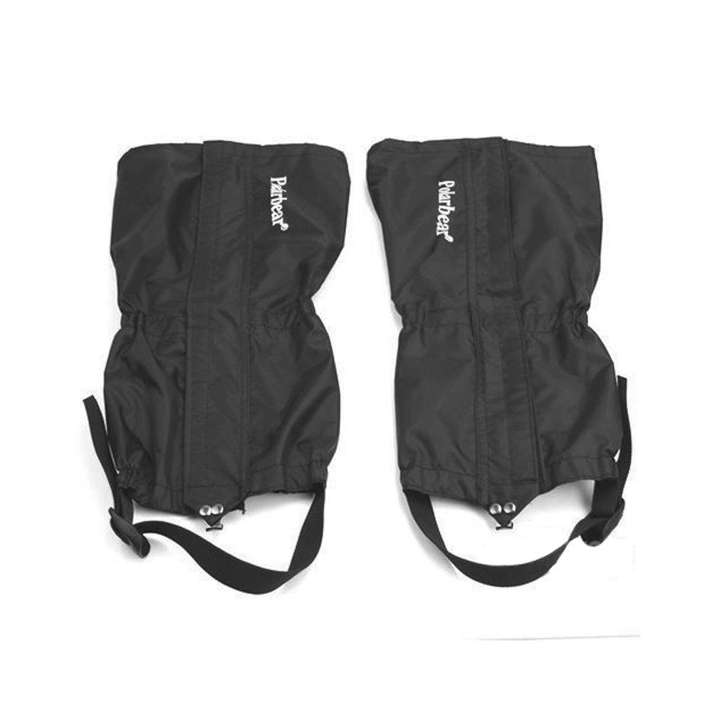 Japace® Outdoor Wasserdicht Atmungsaktiv Winddicht Schneeschutz Nässeschutz Gamaschen Mountain Hiking Gaiter für Damen und Herren - Schwarz JAP0112239