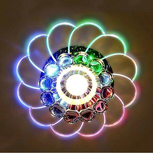 Zehui LED Ceiling Lamp for Hallway Bedroom Kitchen Decor Modern Colorful 5W Crystal Chandelier by Zehui (Image #1)