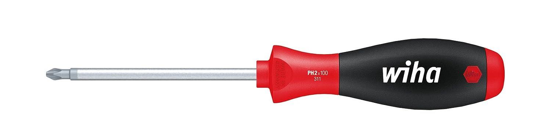 Wiha 31110 Phillips Screwdriver with SoftFinish Handle 1 x 80mm