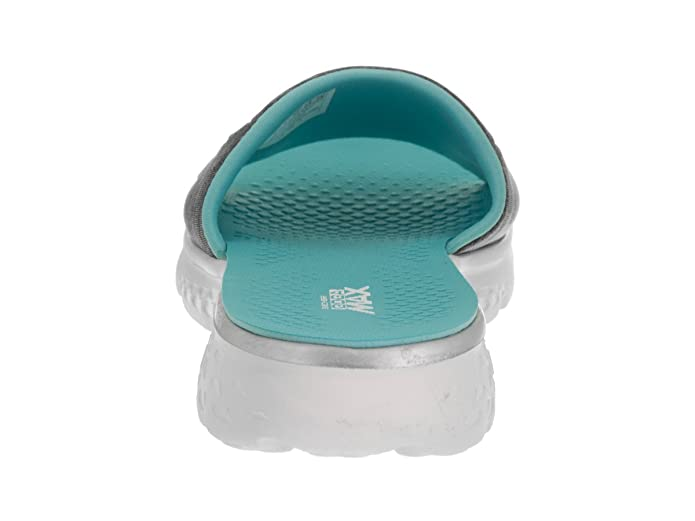 Skechers Women's On The Go 400 Cloud Fabric Slide GreyLight Blue