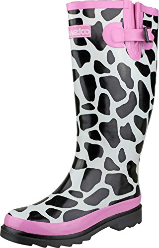 Ladies Rubber Upper Sole Wellington Cotswold Women Boot Moo Footwear Wellies 1wtqad