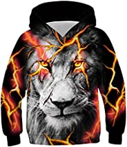 Kinberr Boys Girls 3D Cool Pullover Hoodies Novelty Hooded Sweatshirt with Pockets 6-16 Years
