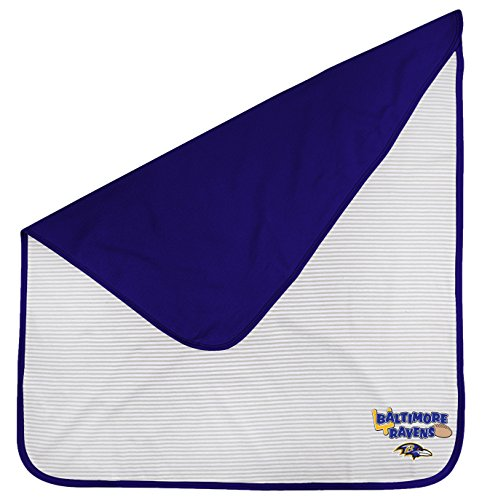 Outerstuff NFL Newborn Lil Kicker Blanket, Baltimore Ravens, Rave Purple, 1 Size