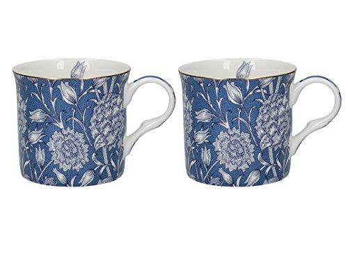Creative Tops 2-piece Fine Bone China V&a William Morris Wild Tulip Mugs - Blue (China 2 Fine Bone)