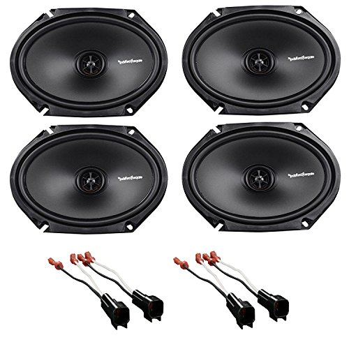 "1997-1998 Ford F-150 Rockford 6x8"" Front+Rear Factory Speaker Replacement Kit With Ford Speaker Harness 1998-UP"