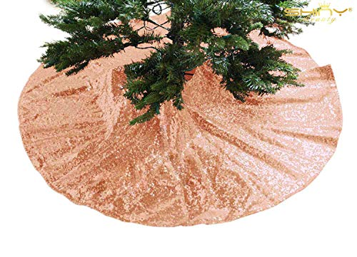 Tree Skirt-Sequin Tree Skirt,48' Christmas Tree Skirt...