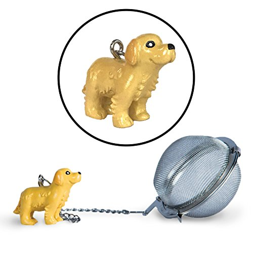 Golden Labrador Retriever Tea Ball Infuser with Charm - Great Gift for Dog Lovers and Veterinarians by Simply Charmed (Gift Retriever Golden)