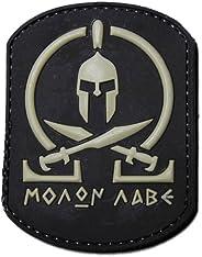 Molon Labe Black PVC Velcro Spartan Morale Patch