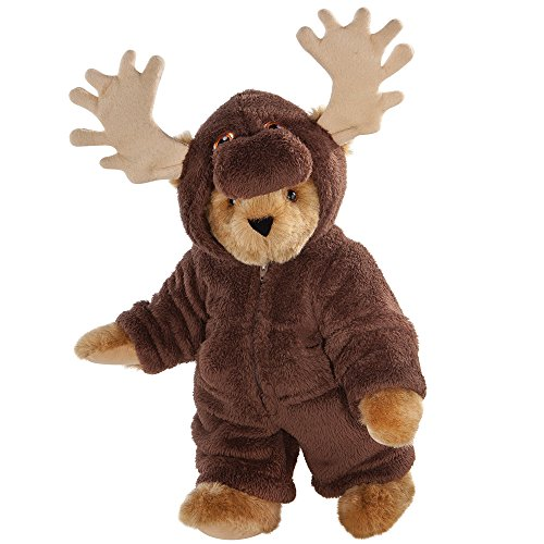 - Vermont Teddy Bear - Moose Bear, 15 inches, Brown and dressed like a Moose - Made in the USA
