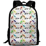 Wrestling Wrestlers Pattern School Rucksack College Bookbag Unisex Travel Backpack Laptop Bag