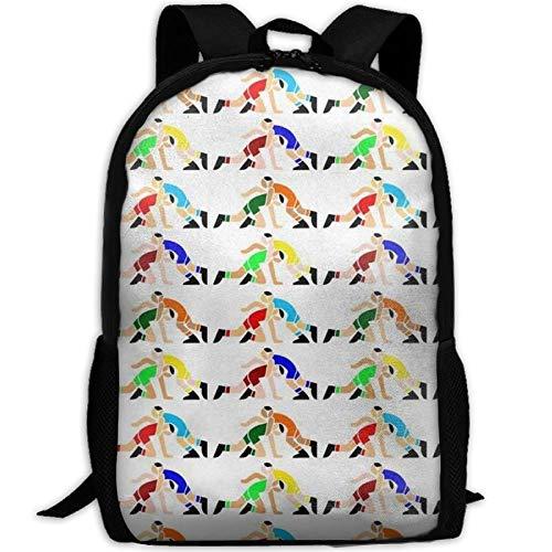 Wrestling Wrestlers Pattern School Rucksack College Bookbag Unisex Travel Backpack Laptop Bag by SchoolBAG27