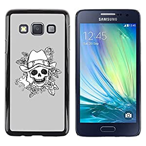 iKiki Tech / Estuche rígido - Evil Emo Dark Rock Grey Poker - Samsung Galaxy A3 SM-A300