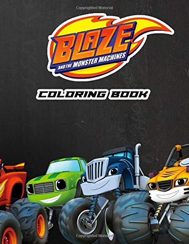 Amazon Com Blaze And The Monster Machines Coloring Book 50 Coloring Pages With Fun Easy And Relaxing Coloring Pages 9798671036053 Ross Kovacek Books