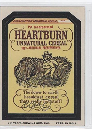 Heartburn Unnatural Cereal (Trading Card) 1974 Topps Wacky Packages Series 9 - [Base] #HEAR ()