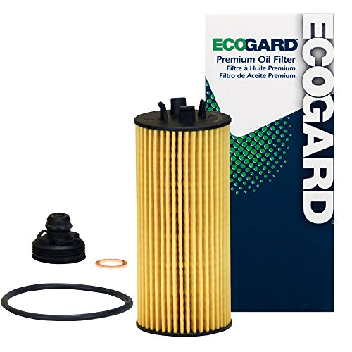 ECOGARD X10383 Cartridge Engine Oil Filter for Conventional Oil - Premium Replacement Fits Mini Cooper, Cooper Clubman, Cooper Countryman / BMW X1, i8