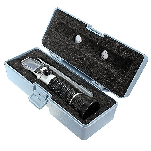 Hand Held Brix Refractometer For Sugar Beer Brix Test Optical 0-32% Brix ATC Fruit Sugar Meter ()