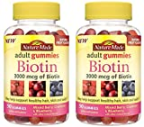 Cheap Nature Made 3000 mcg Biotin Fruit Flavored Gummies 2 pack