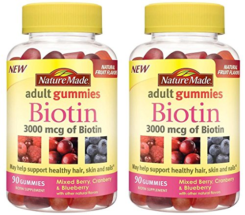 Nature Made 3000 mcg Biotin Fruit Flavored Gummies 2 pack