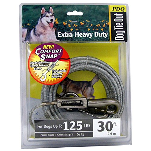 Tie Out Dog Xlarge 30ft Pdq