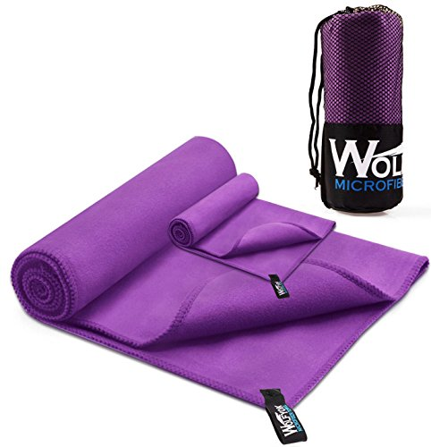 2 Pack Microfiber Travel Sports Towel XL Ultra Absorbent and