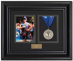 Victory Marathon and Triathlon Photo and Finishing Medal Framing Kit - Satin Black