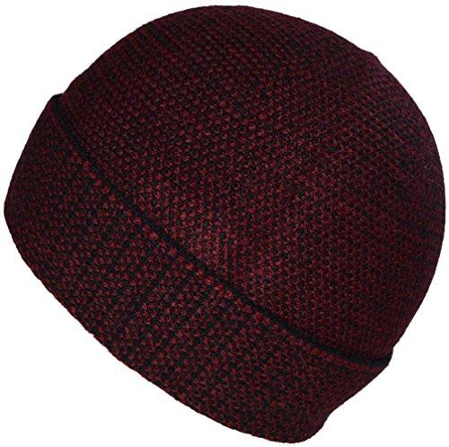 diaria Gorra rojo para Gorra Heather sombrero BaronHong hombres vino cálido los terciopelo AgwSaq