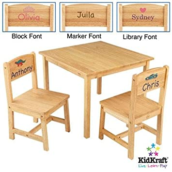 Amazon.com : KidKraft Aspen Table and Chairs Set- Natural, Tiara ...