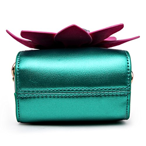 With 3D Leather Flower Womens Crossbody bag for Satchel Girl's SUNROLAN Purse Wallet Pu Yellow Small qAt4I