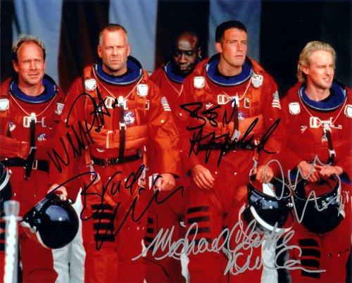 Bruce Willis & Ben Affleck in Armageddon Cast Signed Autographed 8 X 10 Reprint Photo - Mint Condition
