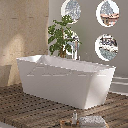 ADM Glossy White Stone Resin Sink SW-103L by ADM Bathroom Design