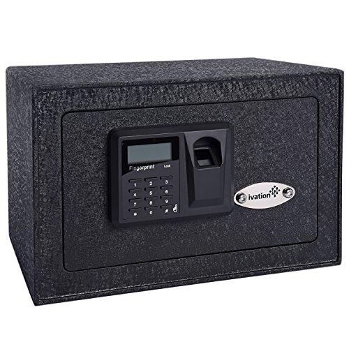 14. Ivation Home Digital Security Lock Box (Fingerprint Scanner Inside)