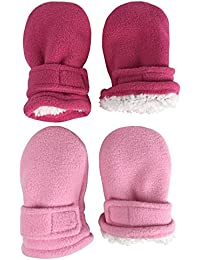 Little Kids and Baby Easy-On Sherpa Lined Fleece Mittens...