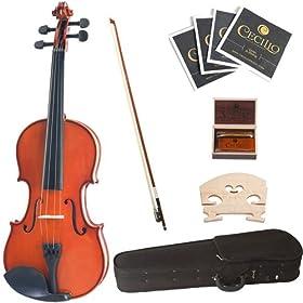 Cecilio 1/10 CVN-100 Solid Wood Student Violin 6