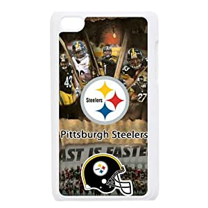 Sytlish Designed NFL Pittsburgh Steelers Team Logo With Helmet Hard Snap-On Protective Skins For Ipod Touch 4