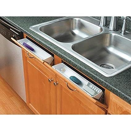 Under Kitchen Sink Tray Amazon rev a shelf 11 tip out front sink tray set home kitchen rev a shelf 11 tip out front sink tray set workwithnaturefo