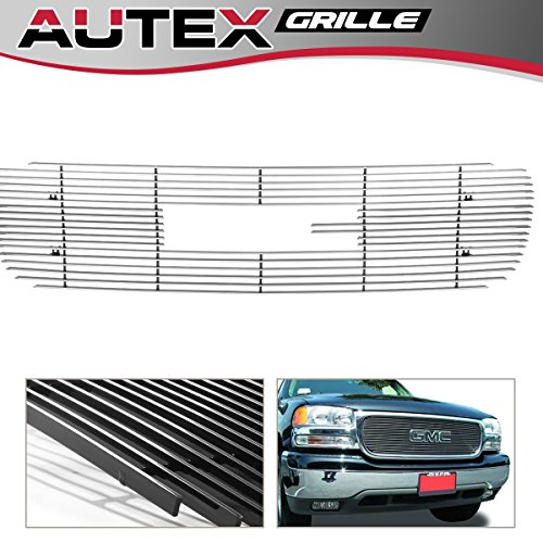 - AUTEX G65703A Polished Horizontal Main Upper Billet Grille Insert Compatible With GMC Sierra 1500 1999-2000,GMC Yukon/Yukon Denali 2000-2006,GMC Sierra All 2001-2002,GMC Sierra Denali 2002-2006 Grill