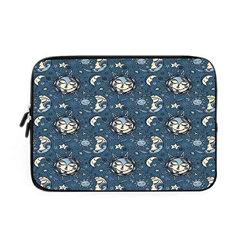 Sun and Moon Laptop Sleeve Bag,Neoprene Sleeve Case/Folklori