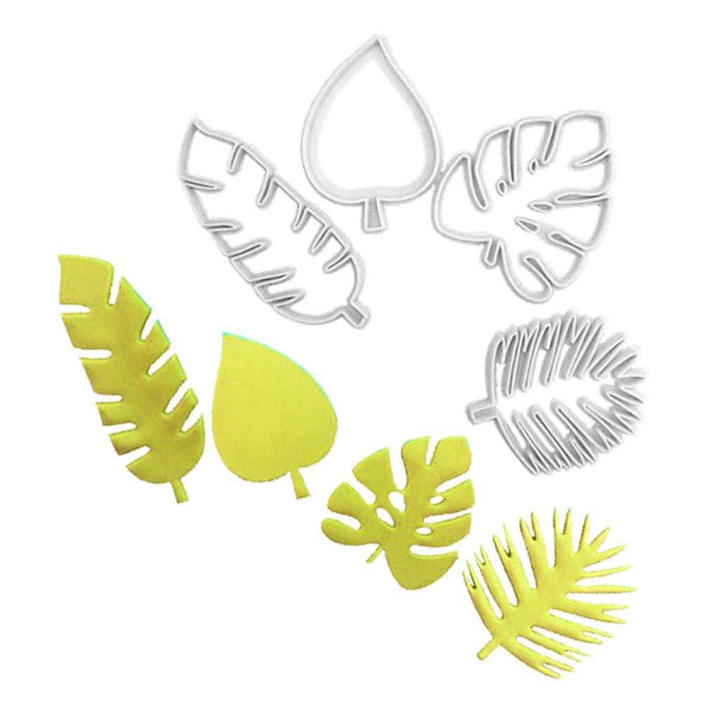 galletas Molde de pl/ástico con forma de hoja tropical para hornear fondant decoraci/ón de pasteles utensilios para hornear