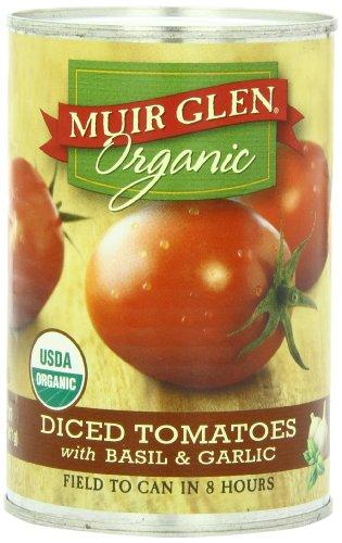 Muir Glen Organic tomates en dés, le basilic et l'ail, Cans 14,5 onces (pack de 12)