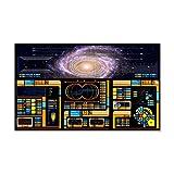 CafePress - Star Trek LCARS Large 38.5In X 24.5In Wall Peel - 35x21 Wall Decal, Vinyl Wall Peel, Reusable Wall Cling