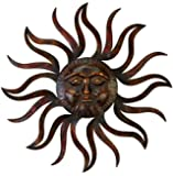 Deco 79 97918 Metal Sun Wall Decor Feel Every Morning More Fresh
