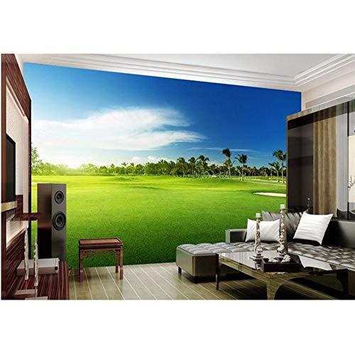 LSFHB Custom Mural Wallpaper Room 3D Photo Wallpaper Golf Grassland Landscape Photo Room Sofa Tv Background Wall Non-Woven Wallpaper-400X280Cm