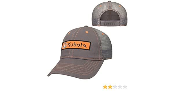 Kubota Charcoal Twill w Mesh Back Cap at Amazon Men s Clothing store  27bb12eaa32e
